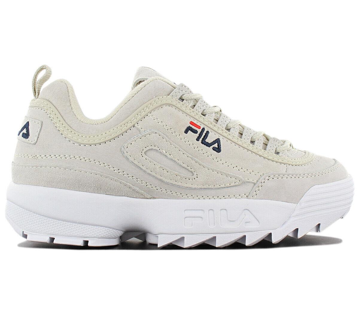 Fila Disruptor Leather S Low Zapatillas Deportivas de de de Mujer Cuero gris Zapatos  marca en liquidación de venta