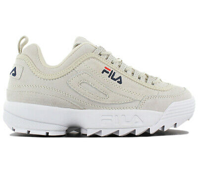 Fila Disruptor Leather S Low Women's Sneaker Leather Gray Shoes 1010436.30H New | eBay