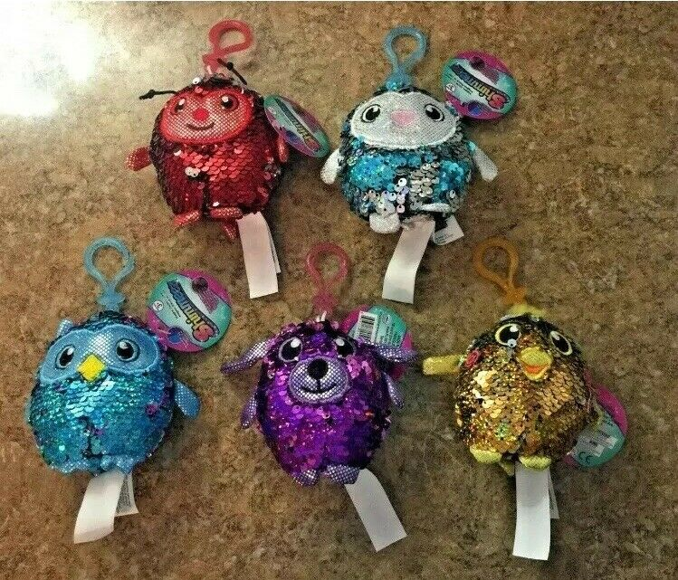 Shimmeez Sequin Clip On Plush Warehouse Lot Of 23
