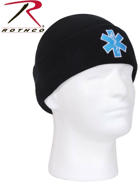 Buy 5346 Rothco Black Star of Life EMT EMS Beanie Watch Cap online ... d1923742432