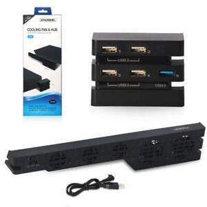 Ventola-di-raffreddamento-PS4-Pro-amp-HUB-USB-2-in-1-SUPER-ad-alta-velocita-di-gioco-Turbo-Console