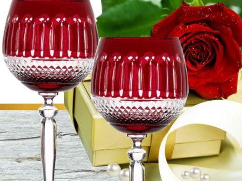 rouge Romains Cristal Vin Verres Les verres à vin Romains bleikristall 6 St. 372 Mme