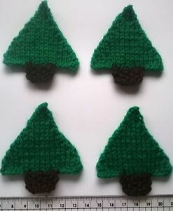 Christmas Trees Card Making Scrapbook Embellishments Toppers Craft