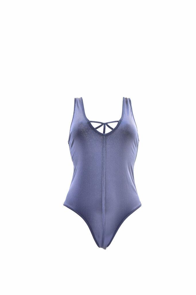 Un Teaspoon donna SUPERFLY una pace Costume Da Bagno Blu Scuro S Rrp  120 BCF87