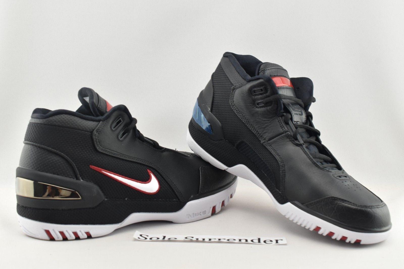9258fb2b51c Nike Air Zoom Generation QS Size 9 1 2 Lebron James Retro Black AZG ...