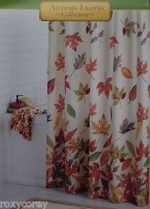 Image Is Loading Autumn Leaves Harvest Cacading Fabric Shower Curtain