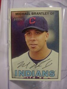 Details About 2016 Topps Heritage Baseball Card 253 Michael Brantley 19615