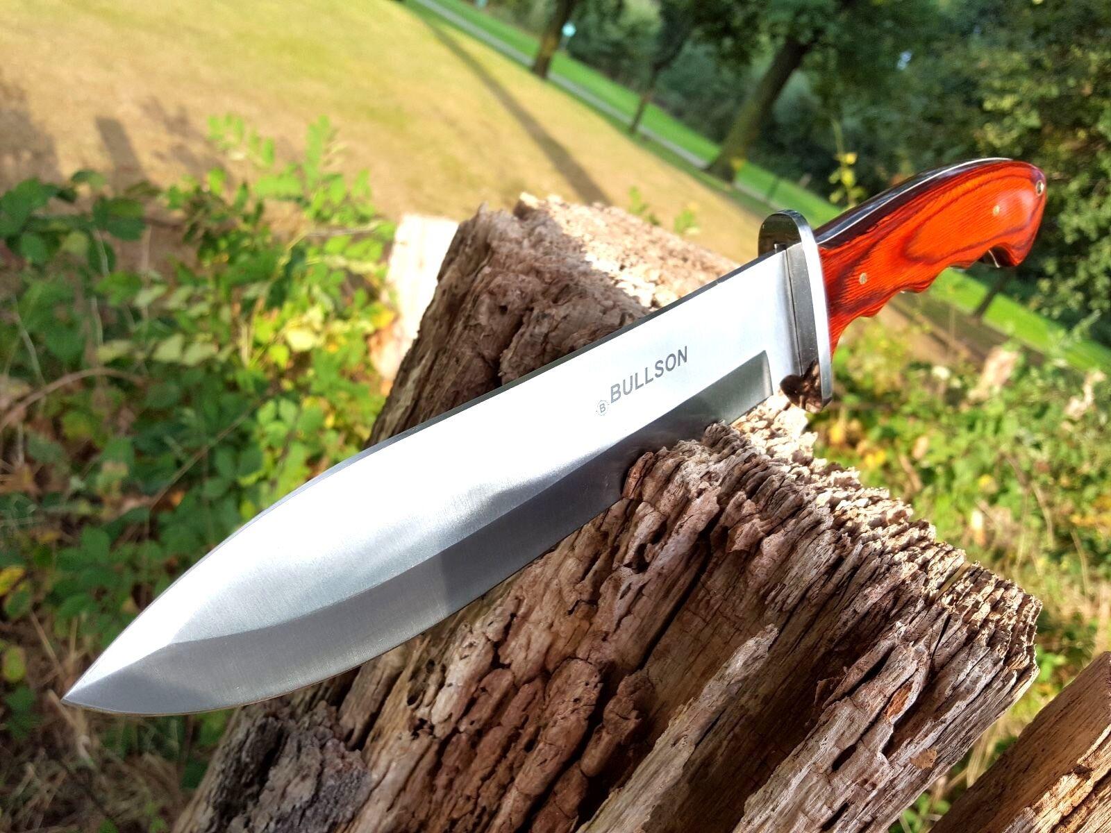 BULLSON JAGDMESSER BOWIE KNIFE BUSCHMESSER MACHETE MACHETTE MACETE MESSER red