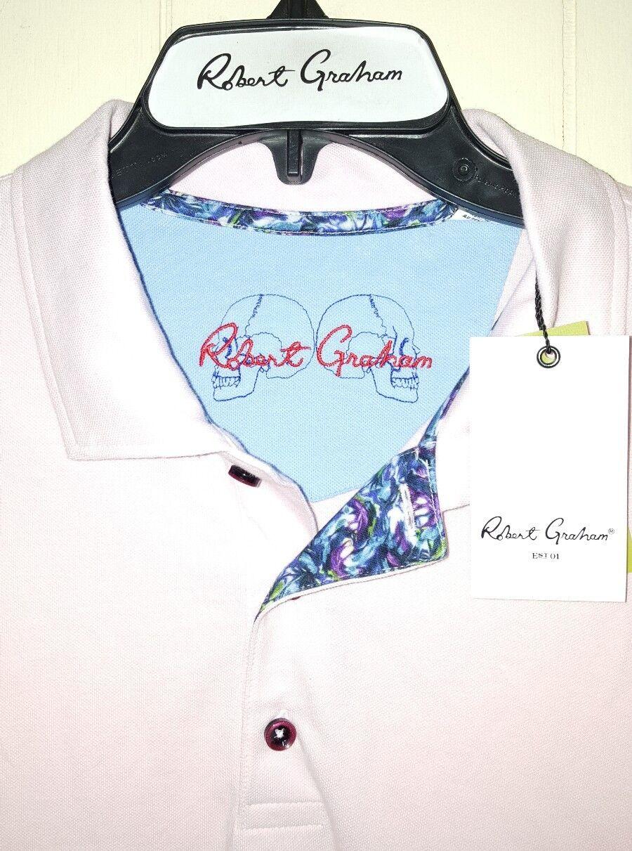 Robert Graham Skull Heads Polo Shirt  Large (NWT)