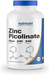 Nutricost-Zinc-Picolinate-50mg-240-Caps-PREMIUM-Quality-BEST-Value