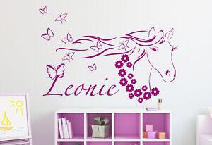 Details zu ⭐️ Wunschname Wandtattoo / Wandaufkleber Kinderzimmer ⭐️ Pferd -  Pferdekopf ⭐️
