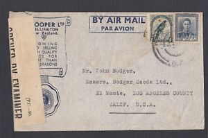 NEW-ZEALAND-1943-WWII-CENSORED-ADVERTISING-COVER-WELLINGTON-TO-LOS-ANGELES-USA