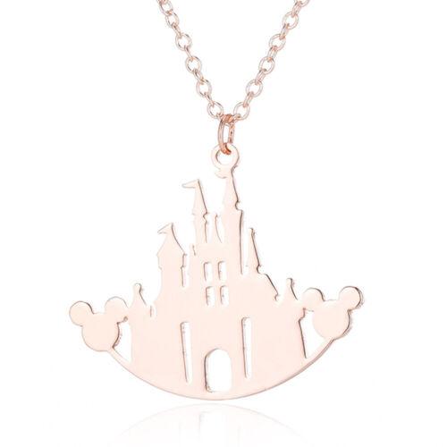 Cartoon Castle Magic Kingdom Mickey Necklace Walt Disney World Charm Chain Gift