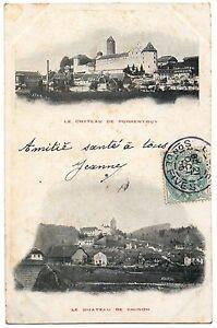 CPA-SUISSE-Le-Chateau-de-PORRENTRUY-Le-Chateau-de-CHINON-Dos-non-divise