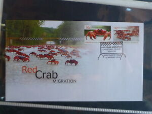 AUSTRALIA-2014-CHRISTAS-Is-RED-CRAB-MIGRATION-SET-2-STAMPS-FDC-FIRST-DAY-COVER