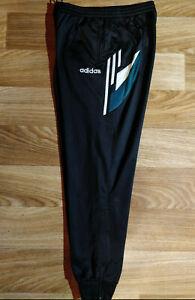 Adidas-90-039-s-Vintage-Mens-Track-Pants-Trousers-Black-Hype-Training