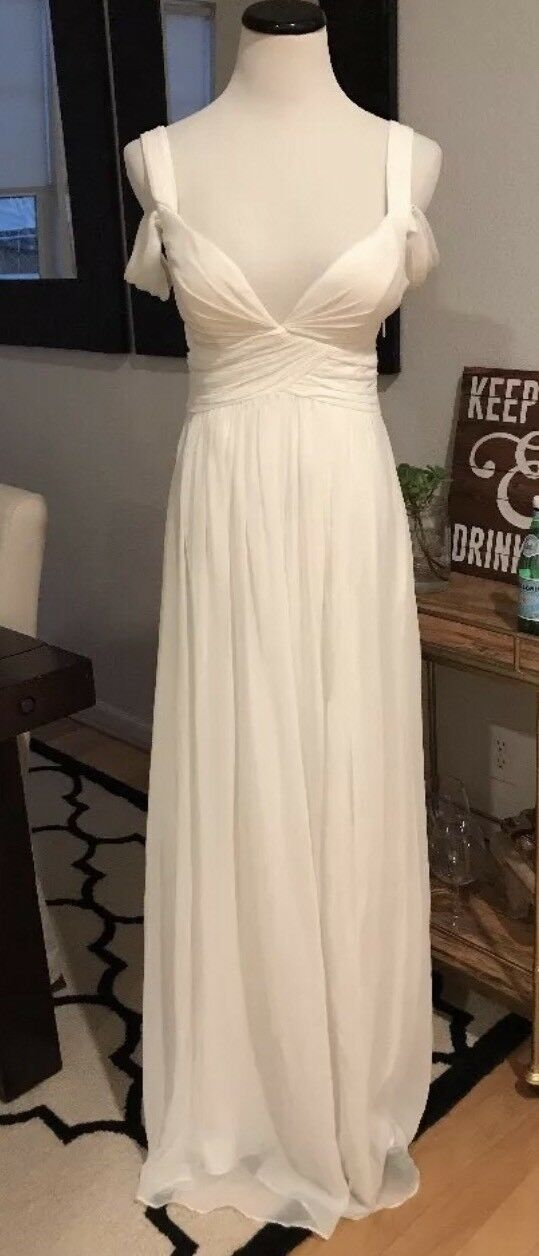 Bariano Ivory Elegance Maxi Dress Wedding Bridal Shower XXS XS S M L ocean