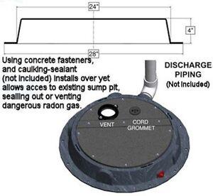 Image Is Loading Radon Gas Mitigation Remediation Sump Pump Pit Dome