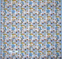 Holly Hobby Fabric Panel - Doll Portrait Blocks China Blue 34 Spectrix Cotton