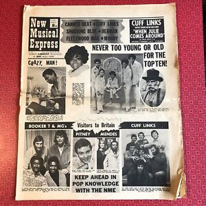 NME New Musical Express  28 Feb 1970 - some damage but complete. Moody Blues...