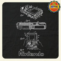 Cool Nintendo Gameboy Vintage Patent Drawing T-shirt - Fast Free Shipping
