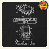 Cool Nintendo Gameboy Vintage Patent Drawing T-shirt - Fast Free Shipping