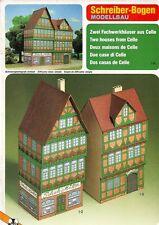 Schreiber-Bogen Kartonmodellbau Zwei Fachwerkhäuser aus Celle