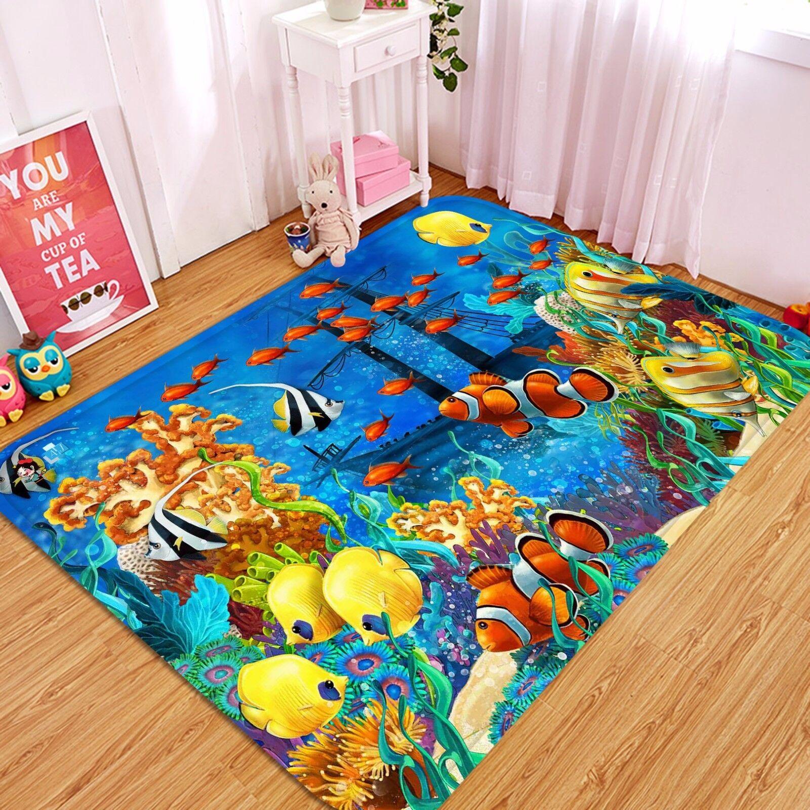 3d pesce clown 45 antiscivolo TAPPETO TAPPETINO BAGAGLIAIO Qualità Tappeto Elegante De