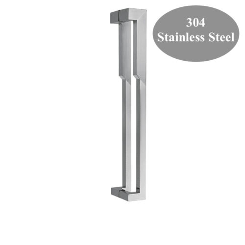 Entry Front Door Long Square Door Pull Handle Stainless Steel Entry Modern