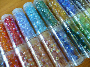 Tube of Gutermann Round Glass Beads in a Variety of Colours ~ 6mm
