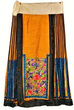 Antique 19thc Chinese Silk Embroidered Summer Kossu Kesi Robe Skirt Ching Qing