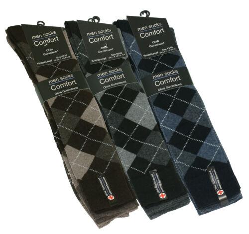 con a quadri-design senza elastico federale di VCA 6 PAIA CALZE CALZETTONI comfort