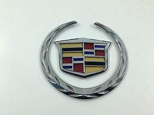 Cadillac ATS 2013 2014! Rear Trunk WREATH /& CREST Emblem! CHROME !! NEW!