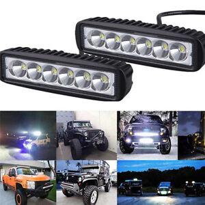 18W-6000K-LED-Work-Light-Bar-Lamp-Driving-Fog-Off-Road-SUV-Car-Boat-VH