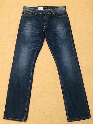 * Usato * Adam Levine Il Patriot Da Uomo Blu Straight Fit Jeans Taglia W34 L34-mostra Il Titolo Originale Nuove Varietà Sono Introdotte Una Dopo L'Altra