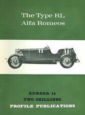 AUTOMOBILE PROFILE 14 ALFA ROMEO TYPE RL PHOTOS HISTORY DEVELOPMENT TECHNICAL DE