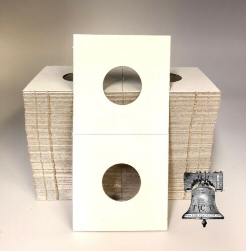 50 MERCURY Dime 2x2 Mylar Paper Cardboard Coin Holder Flip Storage BCW Case 18mm