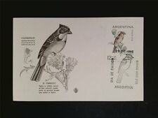 ARGENTINA MK 1962 BIRDS CHINGOLO VÖGEL MAXIMUMKARTE MAXIMUM CARD MC CM c7673