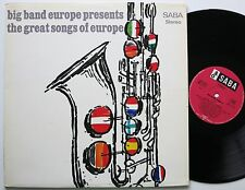 BIG BAND EUROPE PRESENTS THE GREAT SONGS OF EUROPE ORIG SABA LP 1965 MINT-