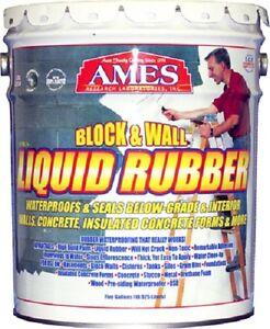Ames Bwrf5 5 Gallon Block Amp Wall Liquid Rubber Basement
