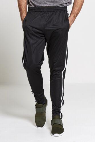 Fashion homme survêtement pantalon rayé soyeux décontracté gym jogging pantalon de survêtement sweat pa