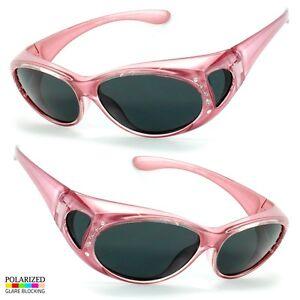 0fe9b2e188 POLARIZED Rhinestone cover put over Sunglasses wear Rx glass fit ...