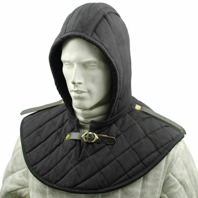 Padded Arming Cap Collar Head Neck Cotton Padding for Helmet or chainmal coif