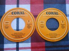 THE JOHNNY BURNETTE TRIO EP STICKER LABEL GALLETA CORAL AÑOS 80 SPAIN SPANISH
