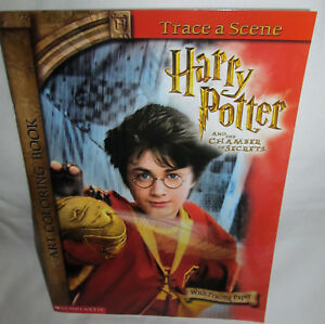 New Harry Potter And The Chamber Of Secrets Art Coloring Book Trace A Scene Ebay