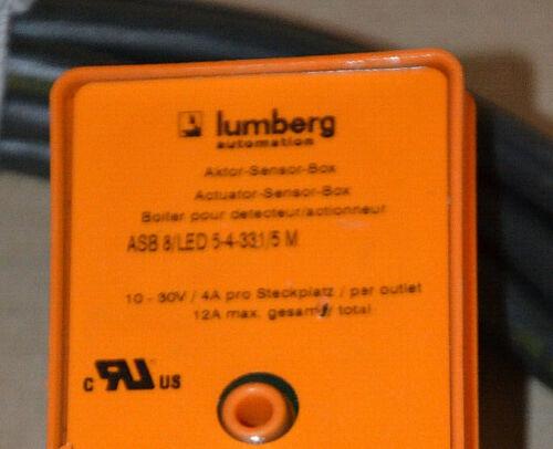 LUMBERG ASB 8//LED 5-4-331//5 M Sensor//Aktorbox passiv M12-Verteiler  NEU