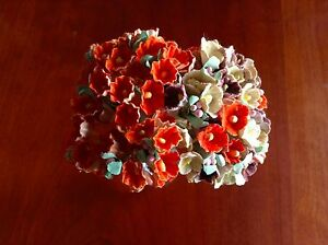 Vintage-Millinery-Flowers-Forget-Me-Not-for-Doll-EarthTone-Mix-or-Pumpkin-Kawaii