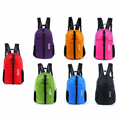 NEW 30L Waterproof Nylon Backpack Outdoor Travel Hiking Couple Bag Folding ESDay
