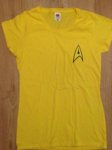 Star trek uniforme femme t shirt captain kirk spock enterprise starfleet