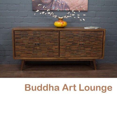 Sideboard Massivholz Anrichte Buffet Palisander 180x88x46 Landhausstil Modern